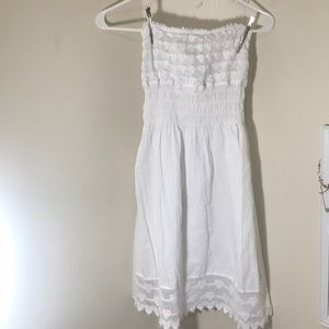Puerto Rican Authentically made White Dress